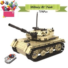 Mailackers Military Series Blocks RC Tanks Technic City Engineering Bulldozer Electric tractor Building Blocks Toys For Children(China)