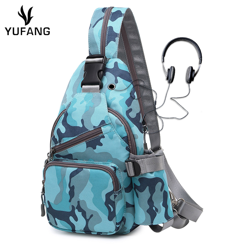 YUFANG Trendy Chest Pack Crossbody Bag Casual Travel Rucksack Chest Bag Small Sling Bags Women& Men Shoulder Back Pack 2018new