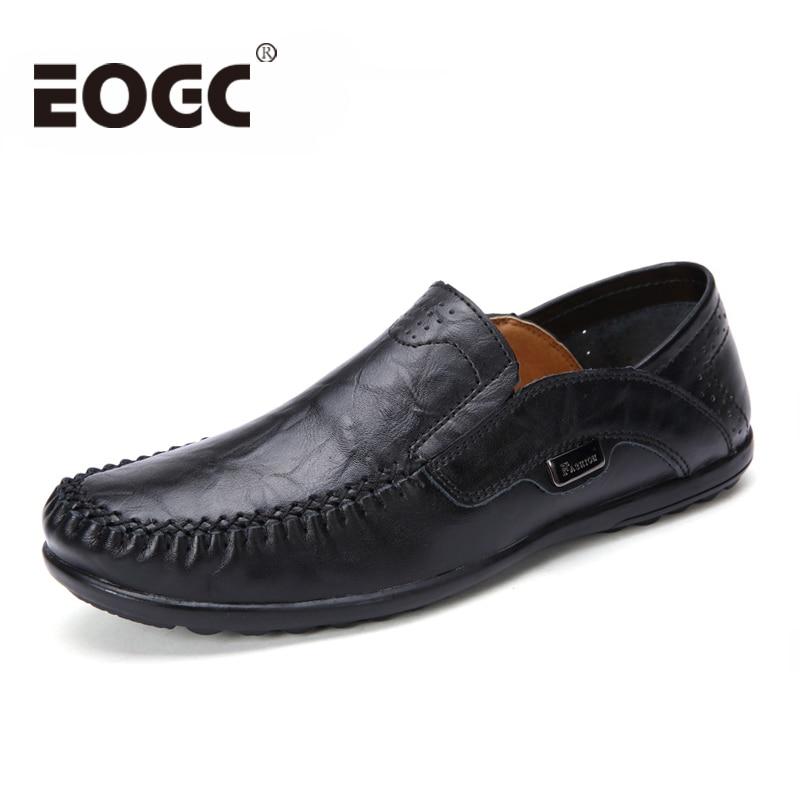Plus Storlek Män Casual Skor Äkta Läder Moccasin Loafers Designer - Herrskor - Foto 1