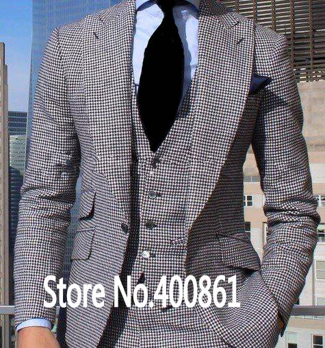 Handsome Mens Dinner Party Prom Suits Groom Tuxedos Groomsmen Wedding Blazer Suits (Jacket+Pants+Vest+Tie) K:1894