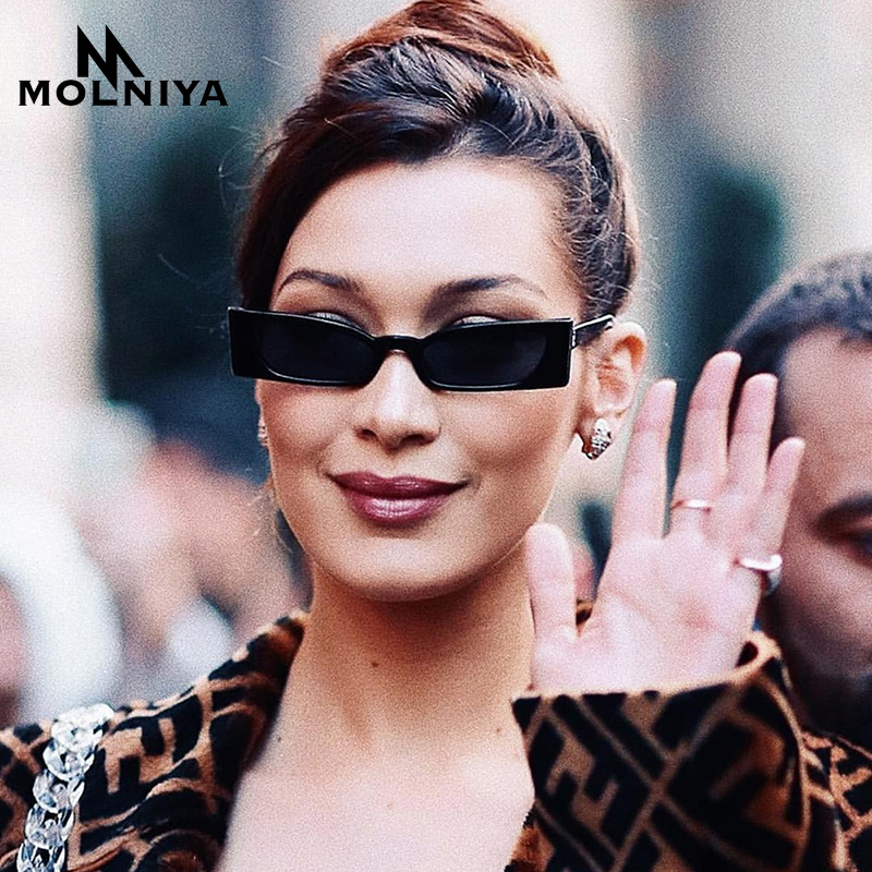 MOLNIYA Nova vintage pravokotna sončna očala za ženske Cat Cat Eye - Oblačilni dodatki