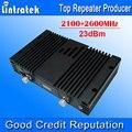 Pantalla LCD de AGC MGC WCDMA 70db 2100 MHz 4G LTE 2600 MHz Celular Amplificador de Señal de teléfono NUEVO 3G 4G Señal Del Teléfono Móvil de Doble Banda repetidor