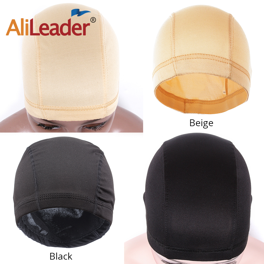 AliLeader 1pc Small/M/large Cheap Dome Mesh Wig Making Caps Black Beige Hair Net For Wigs Elastic Band Stretchable Weaving Cap