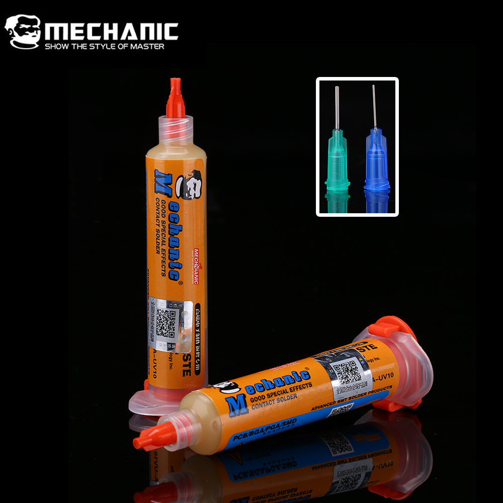 MECHANIC RMA-UV10 10CC BGA Solder Flux Paste No-Clean SMD PCB PGA Soldering Paste Flux Grease BGA Repair Tools