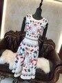 Высокое качество Новые Моды для Женщин 2017 Лето Dress Взлетно-Посадочной Полосы Европейской Дизайнер Урожай-Line дамы случайные ретро платья