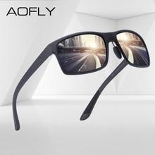 AOFLY marka tasarım TR90 polarize güneş gözlüğü erkek sürücü tonları kadın moda güneş gözlüğü erkekler için kare gözlük zonnebril heren