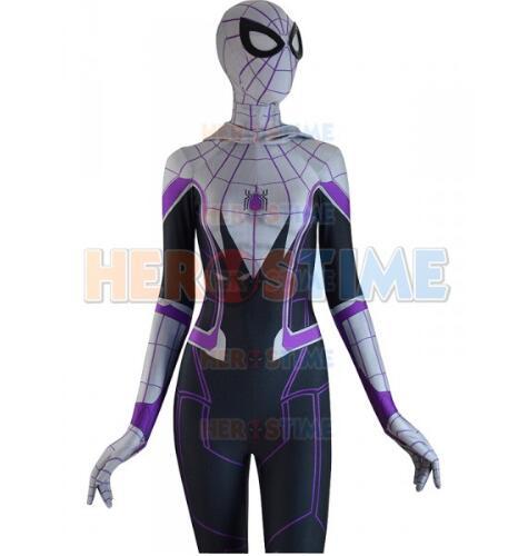 3D Printed Homecoming Spider-Gwen Zentai Spiderman Costume Halloween Gwen Stacy Spider-man Cosplay Female Spider Lycra Suit