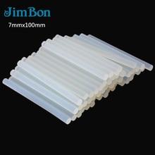 JimBon 50/20/10/5 шт 7 мм x 100 мм горячий расплав клей-карандаш для тепловой пистолет клей высокой вязкости Клей Набор инструментов для ремонта