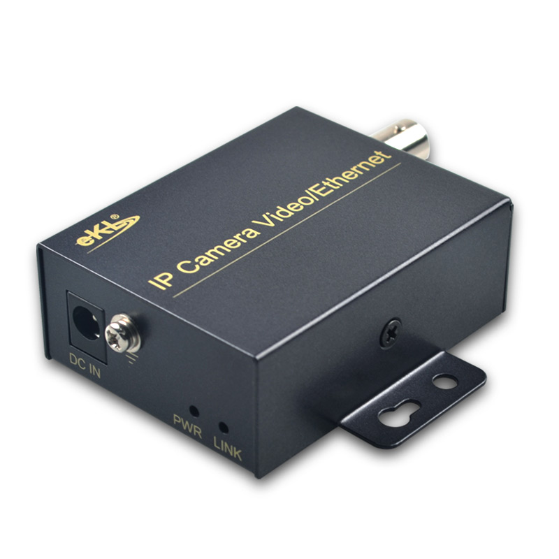 EKL Ethernt Over Coax Extender with 2KM transmission distance/IP video transmit over coaxial cable for IP security/CCTV camera 120m 150m 200m h 264 hdmi over tcp ip extender with 20 60 khz ir