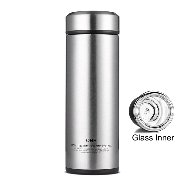 thermos cups 320ml thermos water cup bottle thermos coffee mug glass inner thermos mug vacuum flasks - Glass Thermos