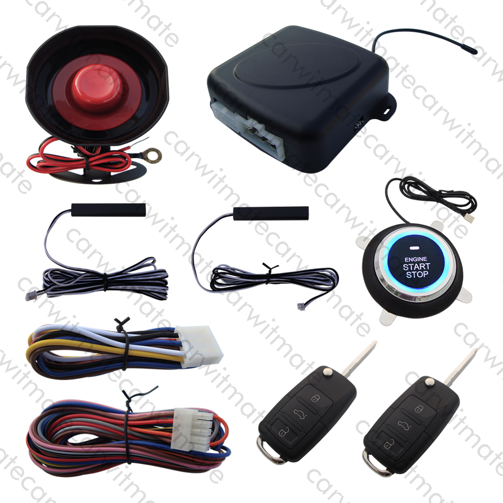 Hopping Code PKE Car Alarm System Passive Keyless Entry Remote Engine Start Push Start Stop With HAA Flip Keys Remote Open Trunk цена и фото