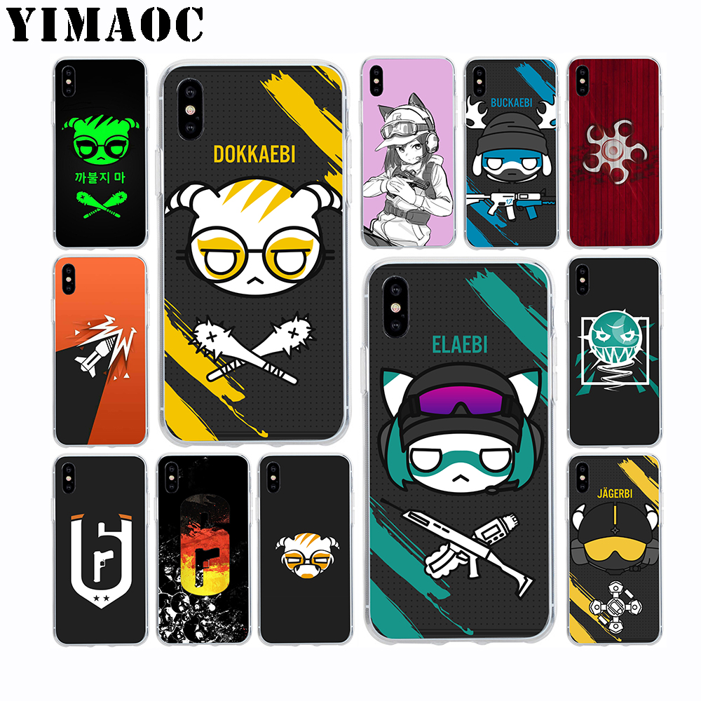 YIMAOC Rainbow 6 Siege Dokkaebi Soft Silicone Case for Apple Iphone 11 Pro Xr Xs Max X 10 8 Plus 7 6S 6 Plus SE 5S 5 7Plus 8Plus in Fitted Cases from Cellphones Telecommunications