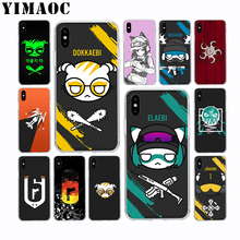 лучшая цена YIMAOC Rainbow 6 Siege Dokkaebi Soft TPU Silicone Case for Apple Iphone Xr Xs Max X 10 8 Plus 7 6S 6 Plus SE 5S 5 7Plus 8Plus