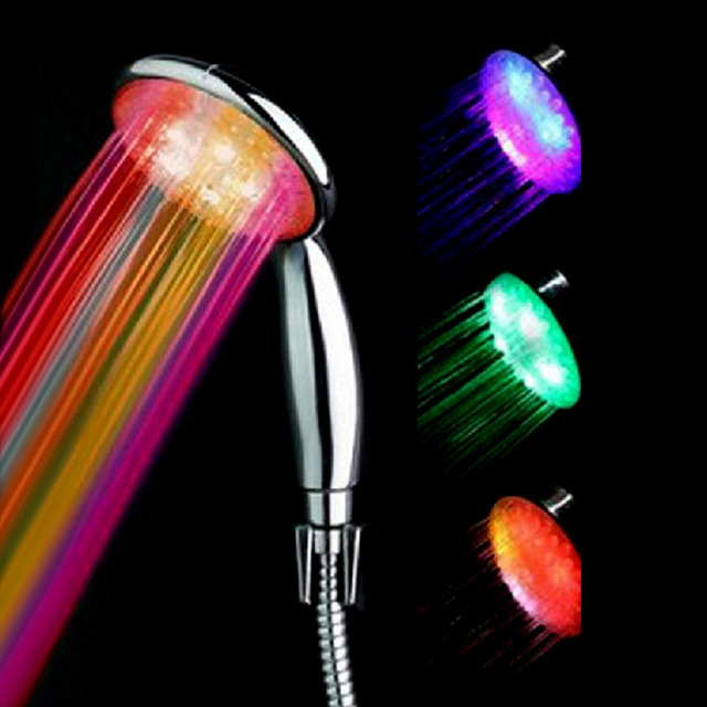 High Quality Shower Head Temperature Control LED Colorful ...