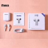 iToncs I12 Tws Pk I20 Tws Pop Up Bluetooth Earphones Wireless Touch Control Earbuds Headset Not 1:1 Replica Tws I30 I20 I00 Tws