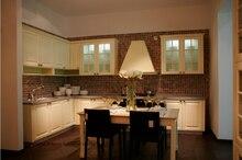 PVC/vinyl kitchen cabinet(LH-PV076) solid wood curved shape kitchen cabinet lh sw089