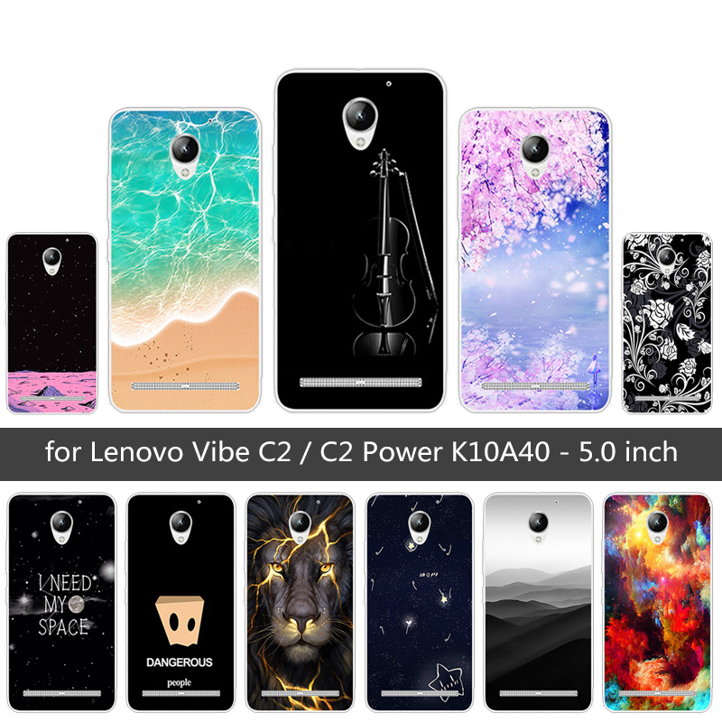 For <font><b>Lenovo</b></font> Vibe <font><b>C2</b></font> / <font><b>C2</b></font> Power <font><b>K10A40</b></font> Fundas For <font><b>Lenovo</b></font> <font><b>C2</b></font> Back Cover Soft TPU Silicone For <font><b>Lenovo</b></font> <font><b>C2</b></font> Prower Sunrise <font><b>Phone</b></font> <font><b>Cases</b></font> image