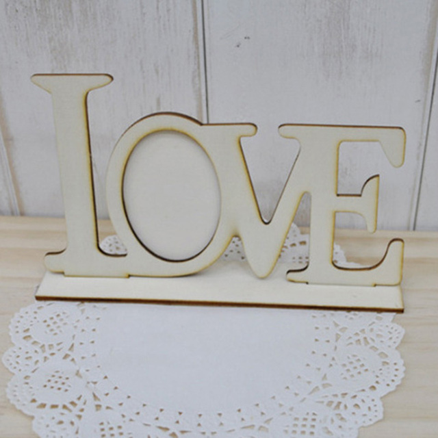 1Pc Fashion Durable Home Decoration Gift Love Wooden Wedding Photo ...