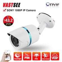 POE 1080P IP camera full hd sony IMX323 Sensor outdoor ONVIF2.4 2.8mm lens option Fixed Bullet Night Vision camaras de seguridad