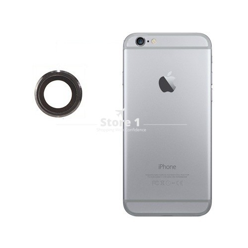 100% Original for Apple iPhone 6 Plus Camera Lens; Sapphire Crystal Back Camera Glass Lens with Frame for iPhone 6 Plus 5.5 inch 7