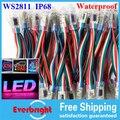12 mm IP68 impermeável RGB WS2811 LED Pixels módulos de red, Verde, Azul, Amarelo, Cor DC5V