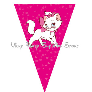 Image 2 - Marie Cat Disposable Tableware Cartoon Pink Cat The Aristocats Theme Party Birthday Baby Shower Cup Plate Decorations Supplies