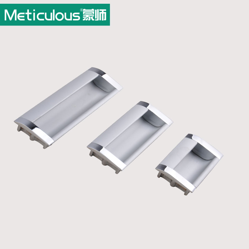 Meticulous Cabinet furniture hidden Recessed Flush Pull aluminum oxide concealed handle window handle sliding door knob