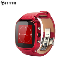Newest Geniune Leather Smart Watch S8 plus MTK6572 Android Watch Phone with SIM slot WiFi GSM 5MP Camera Free DHL shipping