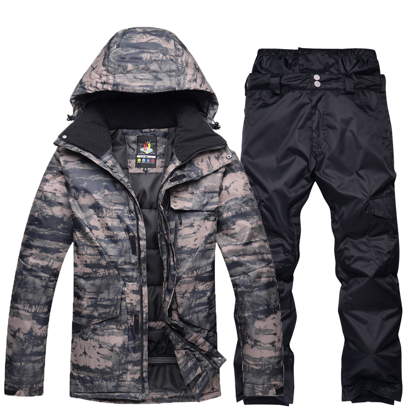 NEW Snowboarding sets Men jackets + pants Professional Winter Warm Windproof Waterproof Snow Skiing suit winter outdoor Clothes new men snow clothes skiing suit sets specialty snowboarding sets waterproof windproof winter sports snow jackets and pants