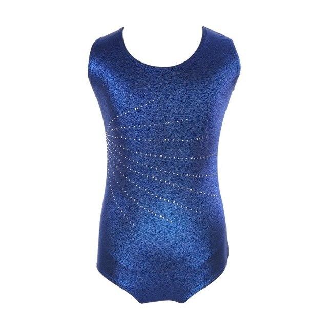 3ece3a5b3434 Children Girls Sleeveless diamond highlights body suit ballet gymnastics  clothing dance practice wear Kids dance clothes