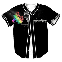 עיצוב מגניב חולצת בייסבול גופיות בייסבול 3D פינק פלויד גברים/נשים V צוואר שרוול קצר Slim Fit טי שירט מקרית Homme חולצה