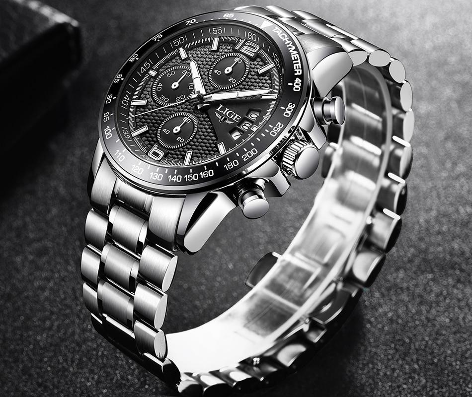 HTB1GqFnSHrpK1RjSZTEq6AWAVXaF LIGE New Mens Watches Top Brand Luxury Stopwatch Sport waterproof Quartz Watch Man Fashion Business Clock relogio masculino+Box