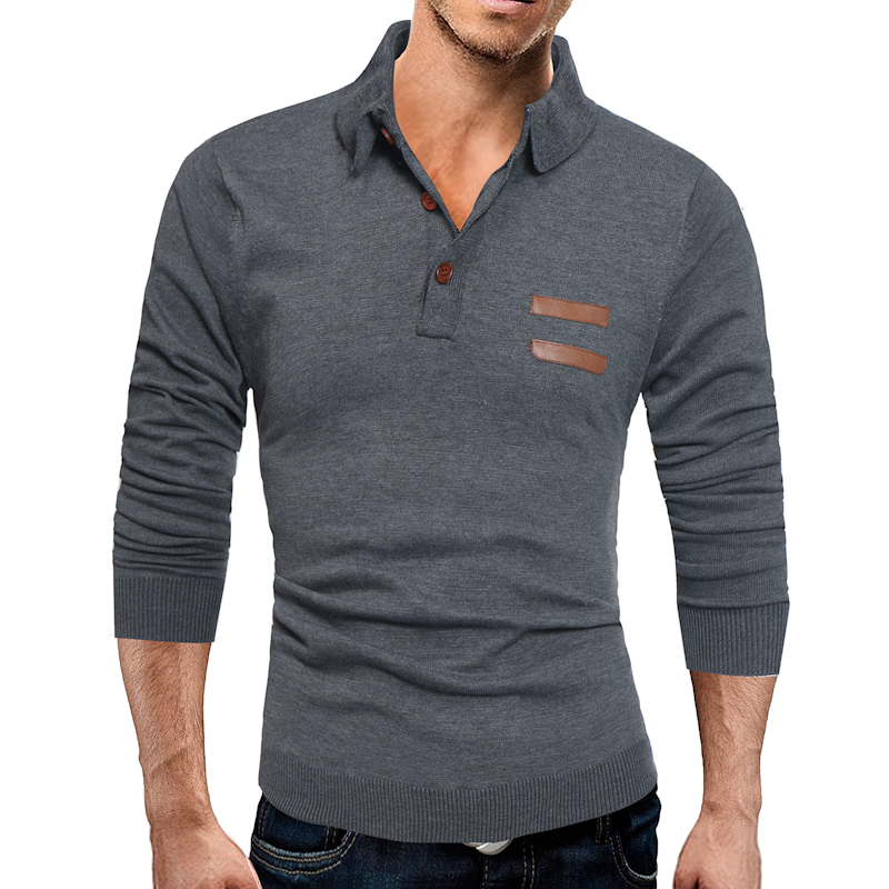 Sweater High Quality Solid Color Men 2018 Male Brand Casual Slim Sweaters Men Hedging Tu ...