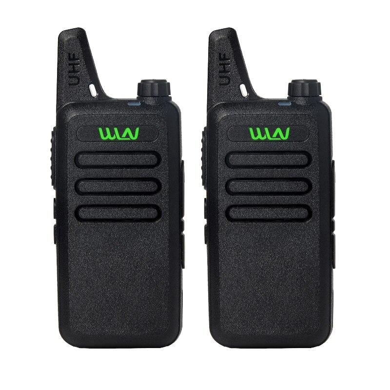 imágenes para 2 Unids/lote WLN KD-C1 UHF 400-470 MHz cb radio mini walkie talkie de radio transmisor-receptor portátil Negro