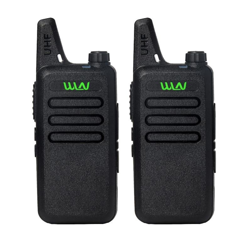 2Pcs lot WLN KD C1 UHF 400 470 MHz Black handheld transceiver cb radio mini radio