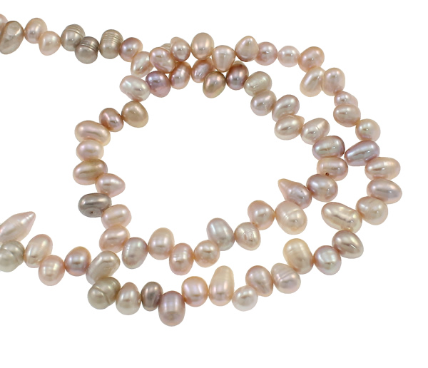 Jewelry & Accessories Confident Yyw Women Jewelry Natural White 11-12mm Hole:approx 0.8mm Baroque Cultured Freshwater Pearl Beads