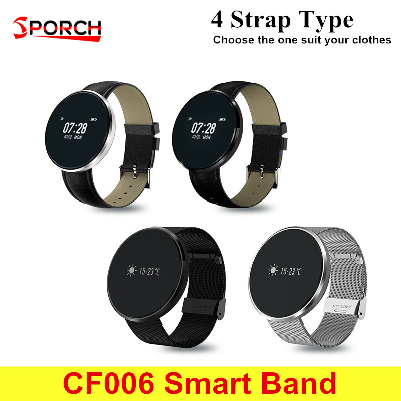 CF006 SmartBand IP67 Waterproof Blood Pressure Monitor Heart Rate Smart Wristband Message Call Bracelet Support Dropshipping huawei honor a2 smart wristband 0 96 oled screen heart rate monitor show message end call ip67 glory play bracelet a2