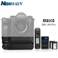 Meike MK A9 PRO Battery Grip Kit for Sony A9 A7R III A7 III Meike MK A9PRO&LCD Dual Battery Charger&NP FZ100 Bettery For Sony