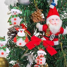 Merry Christmas Tree Ornaments Decoration With Light-emitting Crystal  Snowman Lights