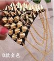 Men and women accessories fashion blazer epaulette tassel rivet punk 2016 new medals shoulder jewelry brooches corsages for