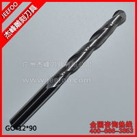 12 90mm Two Flute Carbide Ball Nose End Mill Set CNC Wood Carving Bits Endmill Milling