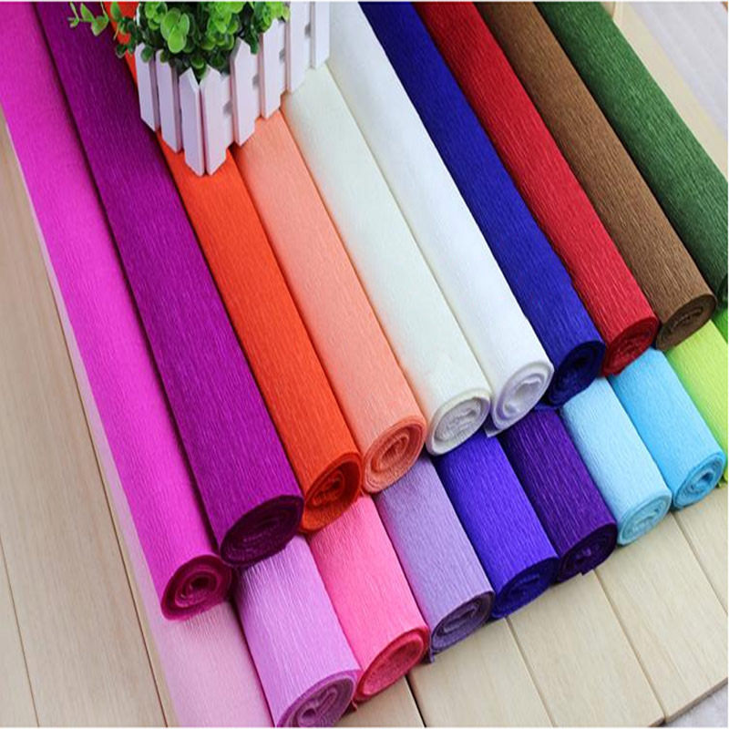 250 50cm Colored Crepe Paper Roll For Diy Flowers