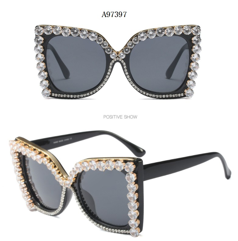 464702eed2e Detail Feedback Questions about 45572 Luxury Diamond Sunglasses ...