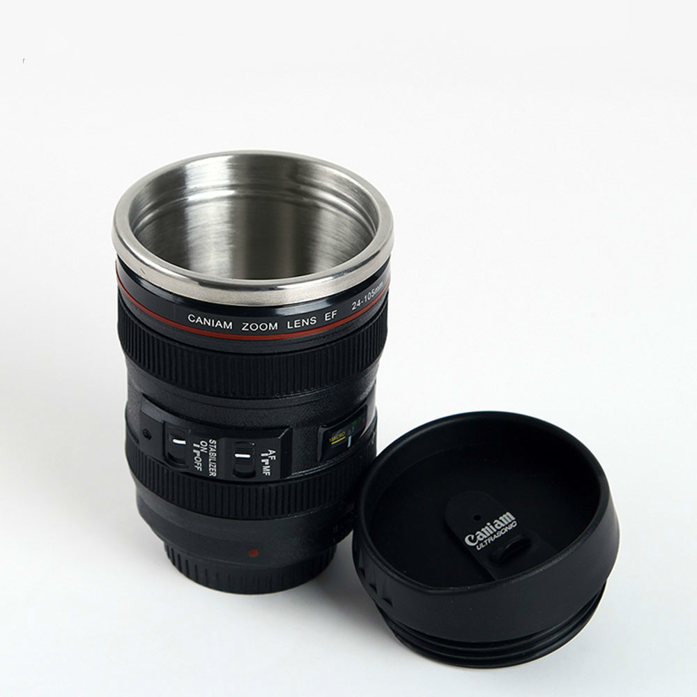 Stainless Steel SLR Camera Coffee Lens Mug 1:1 Scale Coffee Mug Creative Gift