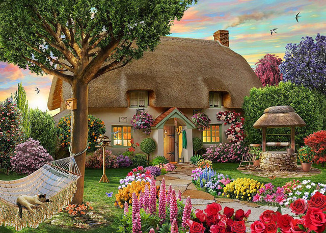 3D Diamond Painting Dream Cottage 4030 Drawing Crafts Needlework Square Drill Mosaic