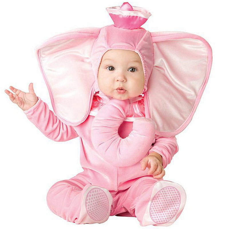 Halloween Baby Infant Romper Pink Elephant Kid One Suit Animal Cosplay Costume Child autumn winter Clothing Christmas Gift