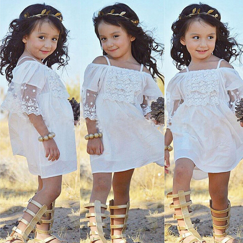 Angela&Alex Girls Princess Dress Summer Fashion Kids Clothes 2-6 Year White Embroidery Baby Girls Party Wedding Mini Lace Dress 2017 new girls party baby children summer sleeveless lace princess wedding dress 2 4 6 8 10 year old fashion flower girls dress