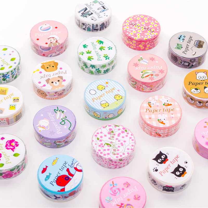 1.5CM*7M Fresh Kawaii Washi Masking Tape Album Scrapbooking Decor Washi Tape School Supply Stationery Stick Label