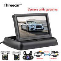 4.3 pouces HD pliable voiture vue arrière moniteur inversant LCD TFT affichage avec Vision nocturne caméra de recul pour véhicule
