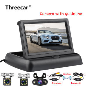 Car-Rear-View-Monitor Vehicle Backup Tft-Display Foldable Reversing Night-Vision HD LCD